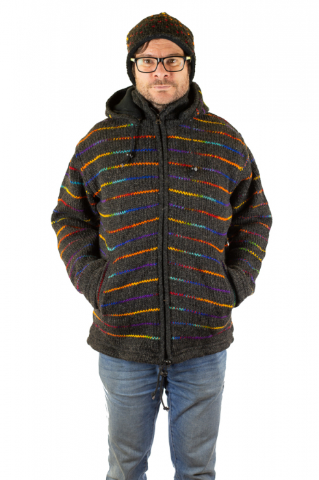 Jacheta de lana - Rainbow Lines 6