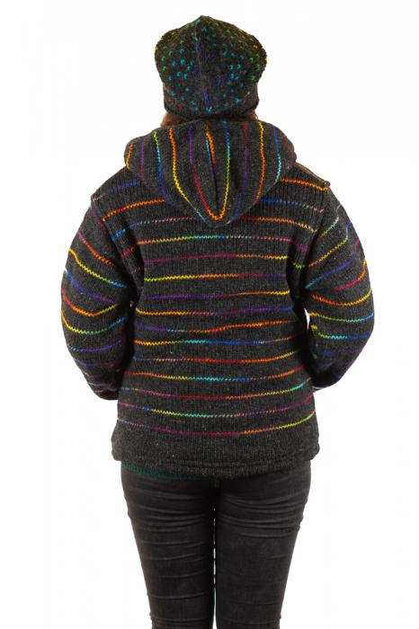 Jacheta de lana - Rainbow Lines 2