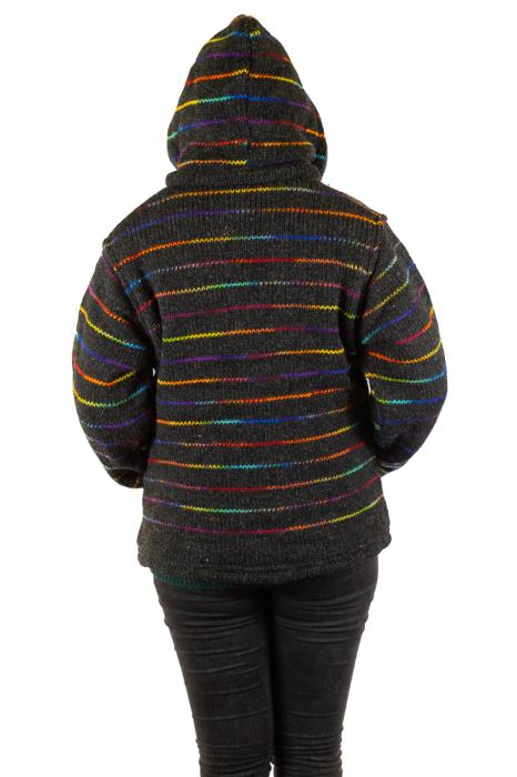 Jacheta de lana - Rainbow Lines 5