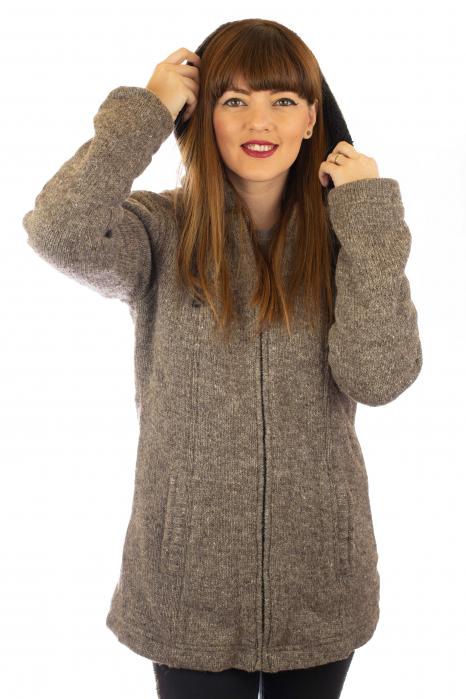 Jacheta de lana - Grey 0