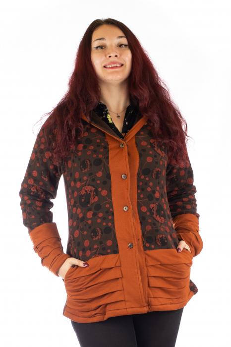 Jacheta de toamna din polar - Portocalie 0