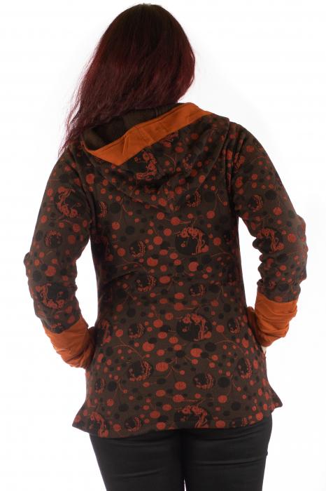 Jacheta de toamna din polar - Portocalie 4