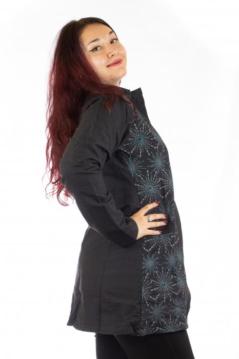 Jacheta de toamna din bumbac - Neagra [4]
