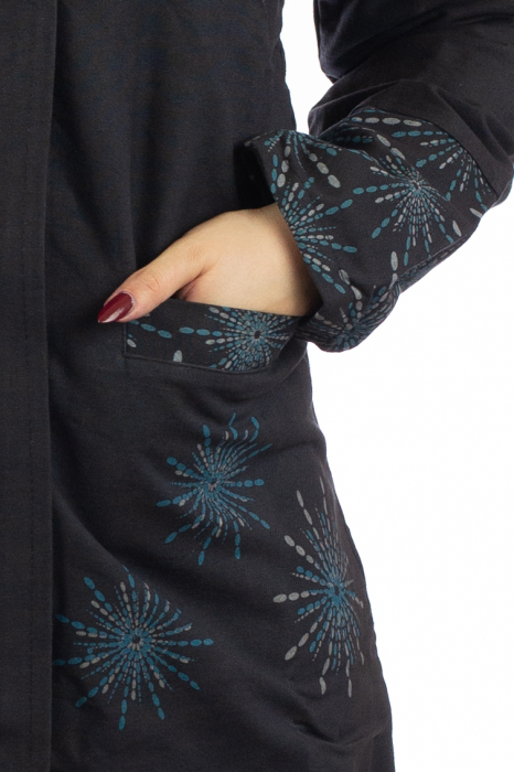 Jacheta de toamna din bumbac - Neagra [2]