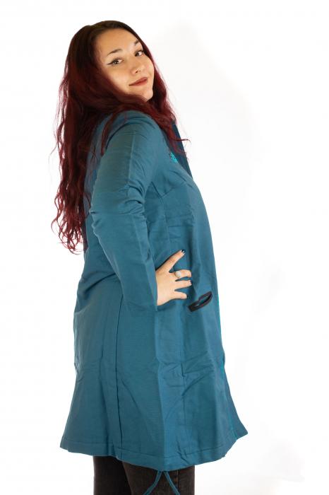 Jacheta de toamna cu broderie - Albastru 1