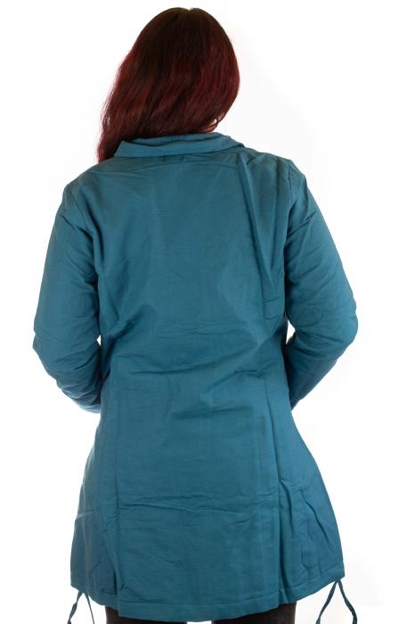 Jacheta de toamna cu broderie - Albastru 2