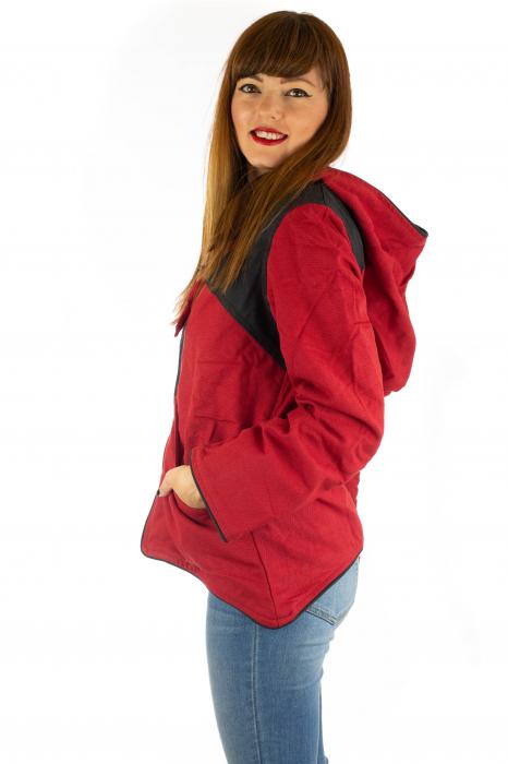 Jacheta de toamna din bumbac - Black & Red 1