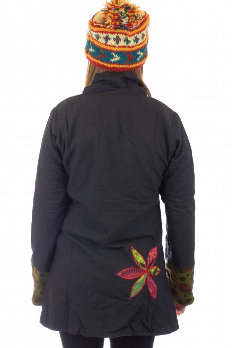 Jacheta de toamna cu broderie - Visiniu 4
