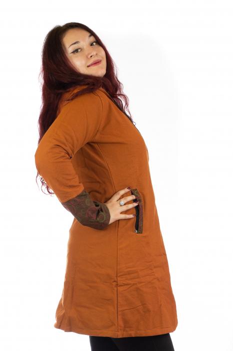 Jacheta de toamna din bumbac - Orange 4