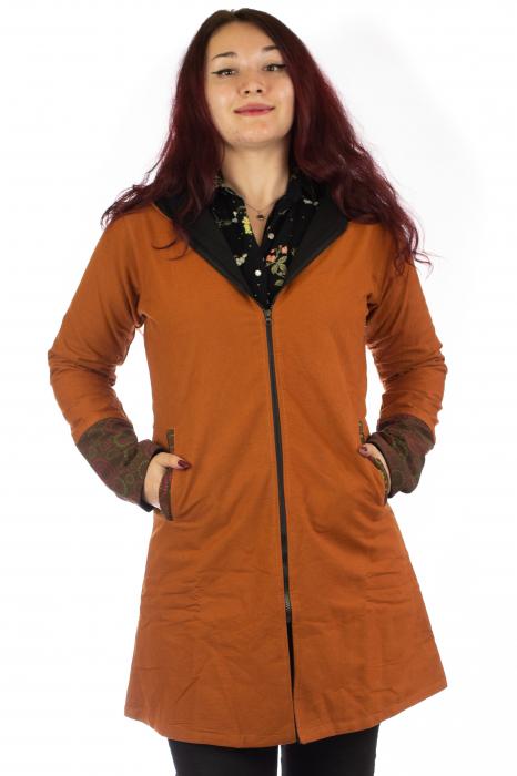 Jacheta de toamna din bumbac - Orange 0