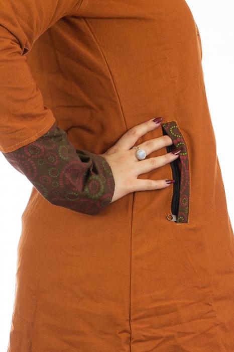 Jacheta de toamna din bumbac - Orange 2