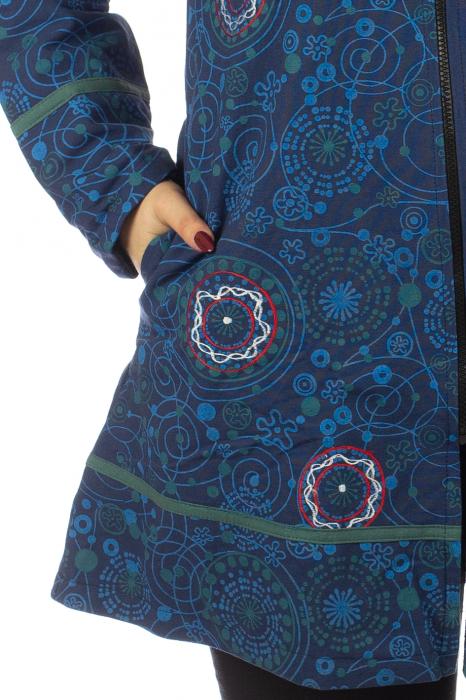 Jacheta de toamna din bumbac - Blue [2]