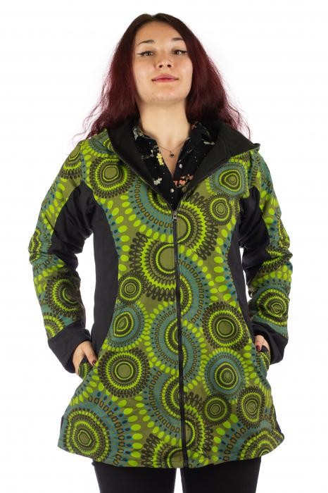 Jacheta de toamna din bumbac - Verde 0