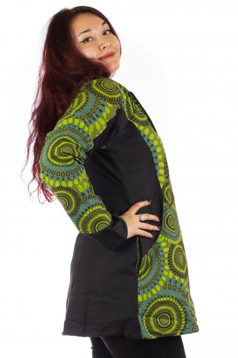 Jacheta de toamna din bumbac - Verde 3