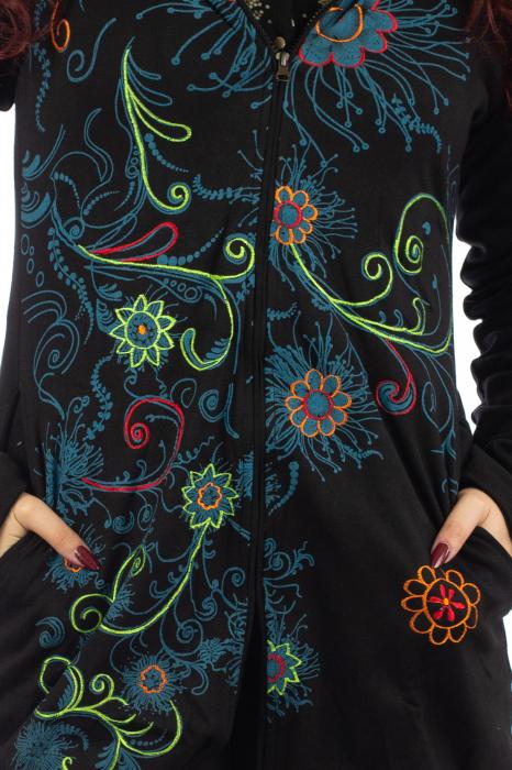 Jacheta de toamna cu print floral [2]