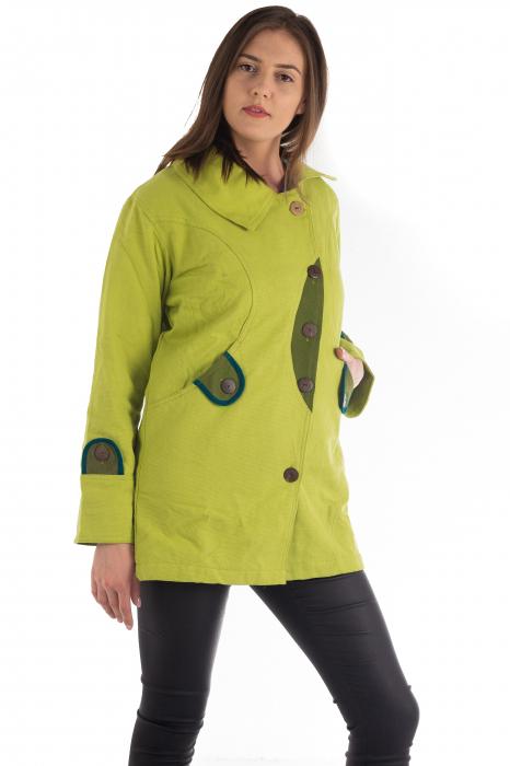 Jacheta de toamna cu nasturi - Portocalie [3]