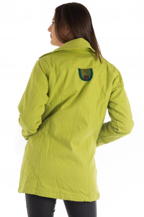 Jacheta de toamna cu nasturi - Portocalie [2]