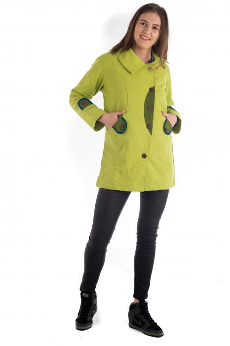 Jacheta de toamna cu nasturi - Portocalie [1]