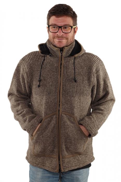 Jacheta din lana cu buzunare - GREY [3]