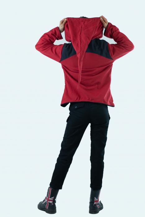 Jacheta de toamna din bumbac - Black & Red [12]