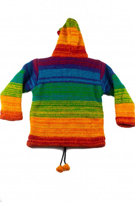 Jacheta pentru copii din lana - Rainbow 2