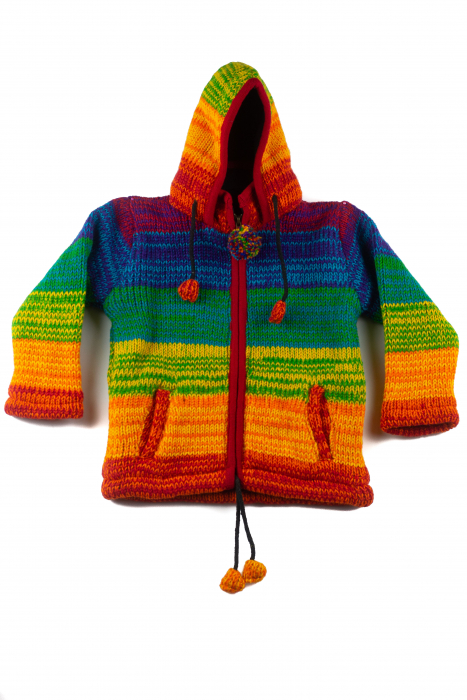 Jacheta pentru copii din lana - Rainbow 0