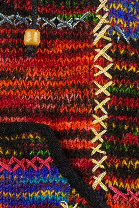 Jacheta pentru copii din lana - Color Bits 1