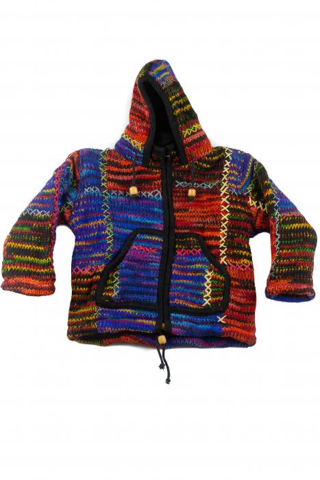 Jacheta pentru copii din lana - Color Bits 0