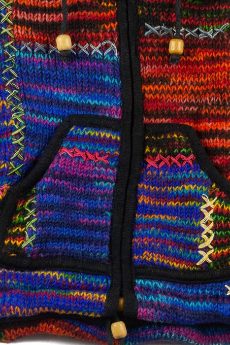 Jacheta pentru copii din lana - Color Bits 2