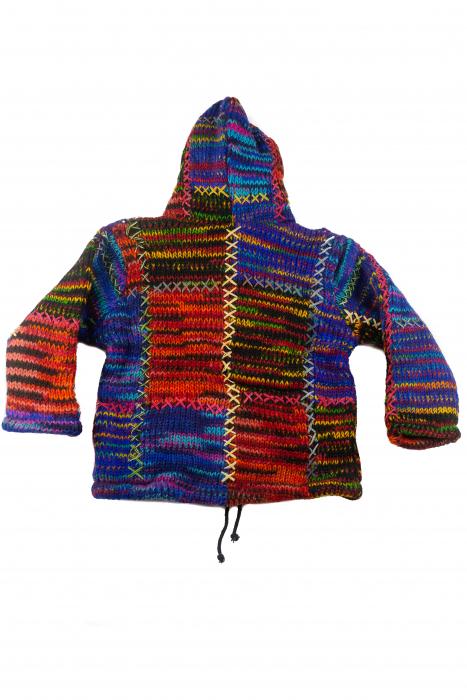Jacheta pentru copii din lana - Color Bits 3