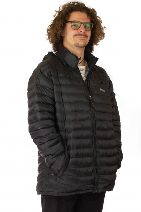 Jacheta scurta cu puf - Negru 2