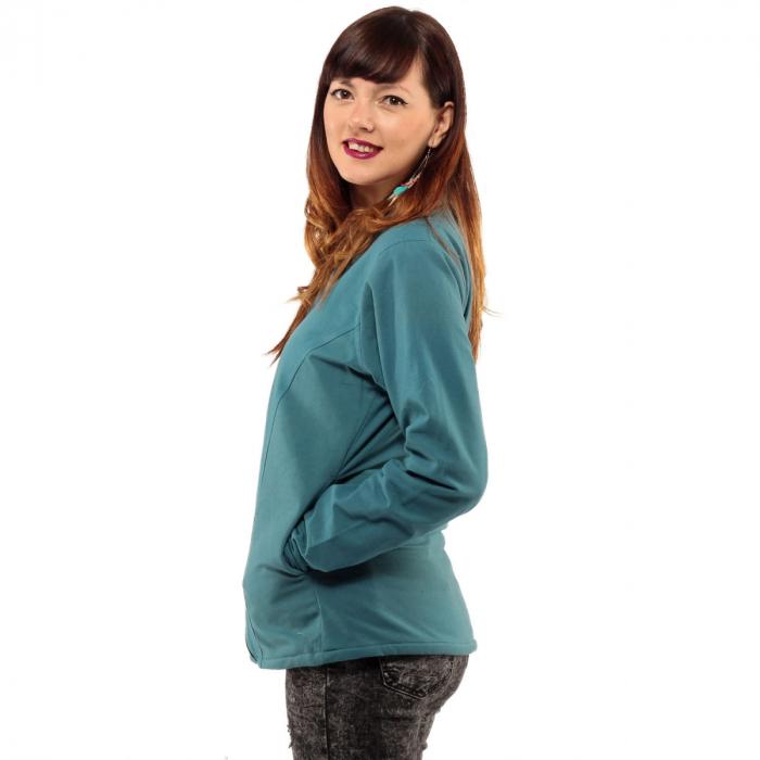 Jacheta scurta din bumbac - ALBASTRU 3