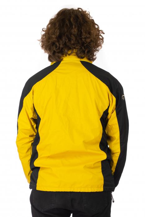Jacheta subtire impermeabila - Galben si negru 3