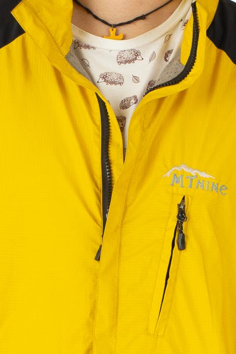 Jacheta subtire impermeabila - Galben si negru 1