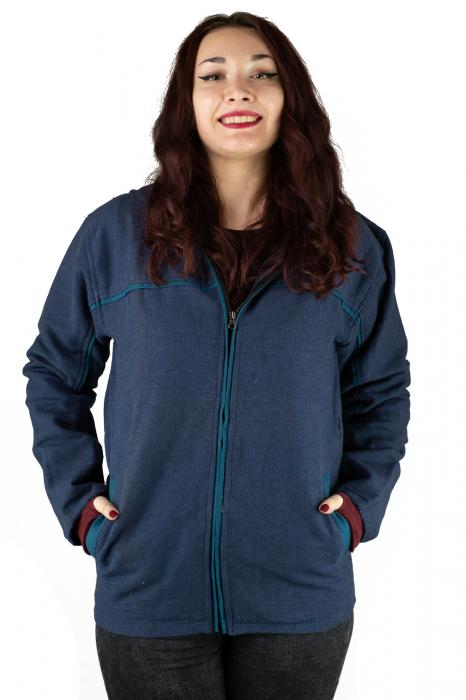 Jacheta din bumbac - Bleumarin [0]
