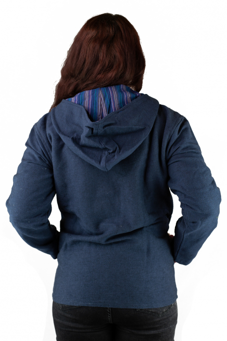 Jacheta din bumbac - Bleumarin [2]