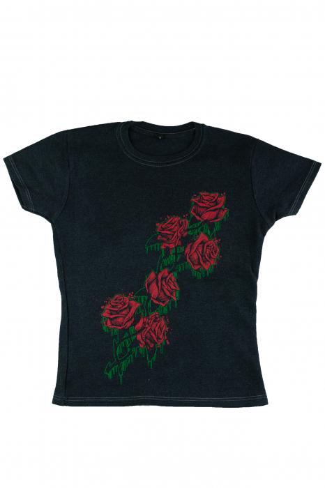Tricou gri - Roses [0]