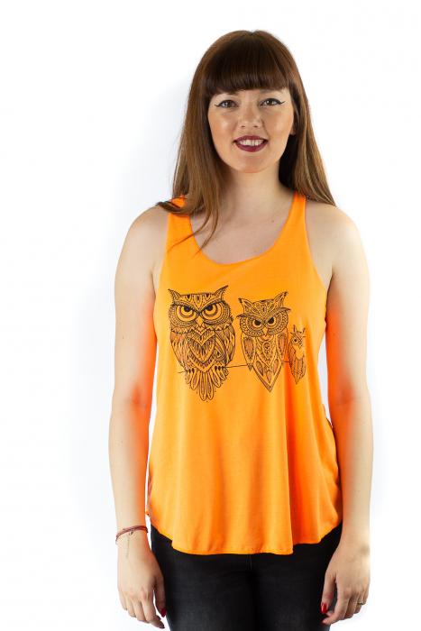 Maiou neon portocaliu subtire de vara - Owl Trio 0