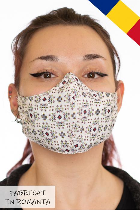 Masca bumbac cu filtru pentru adulti - Etnic 0