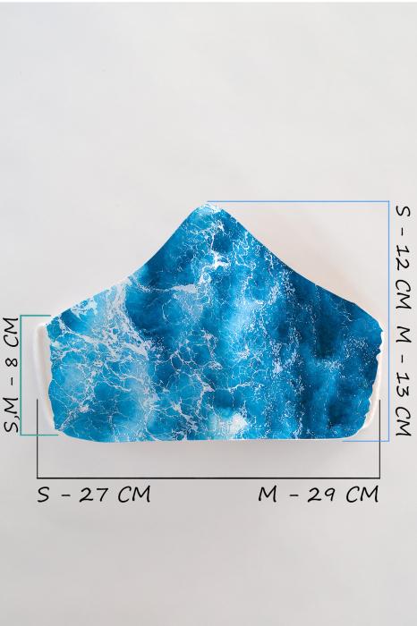Masca bumbac cu filtru pentru adulti - Ocean 2