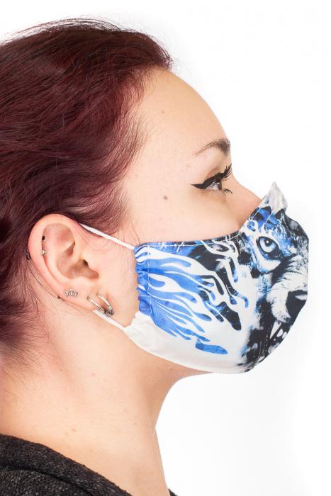 Masca bumbac cu filtru pentru adulti - Blue Wolf 2