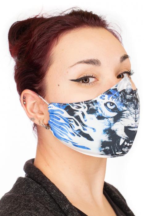 Masca bumbac cu filtru pentru adulti - Blue Wolf 1