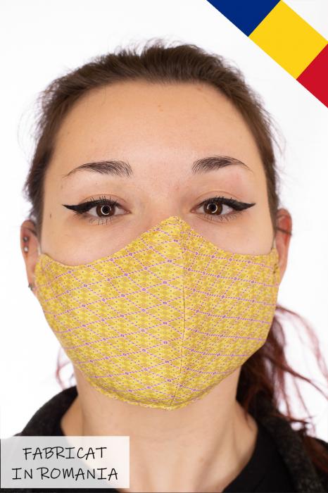 Masca bumbac cu filtru pentru adulti - Motiv 2 0