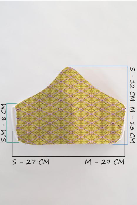 Masca bumbac cu filtru pentru adulti - Motiv 2 1