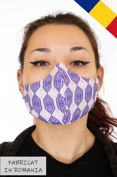 Masca bumbac cu filtru pentru adulti - Motiv 4 0