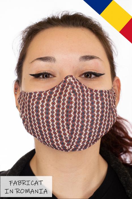 Masca bumbac cu filtru pentru adulti - Zig Zag 0