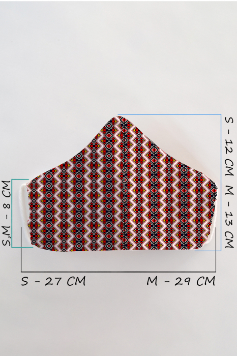 Masca bumbac cu filtru pentru adulti - Zig Zag 1