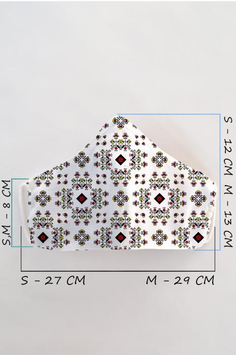 Masca bumbac cu filtru pentru adulti - Etnic 2