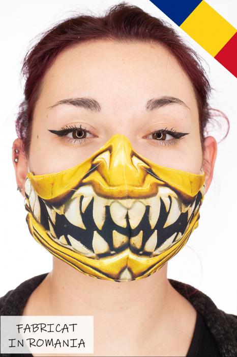Masca bumbac cu filtru pentru adulti - Smile 0