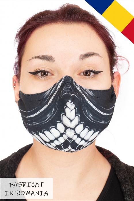 Masca bumbac cu filtru pentru adulti - Pattern 1 0